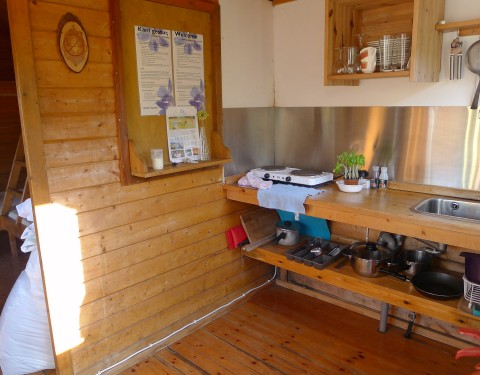Volcano huts Husadalur Cottage Küche