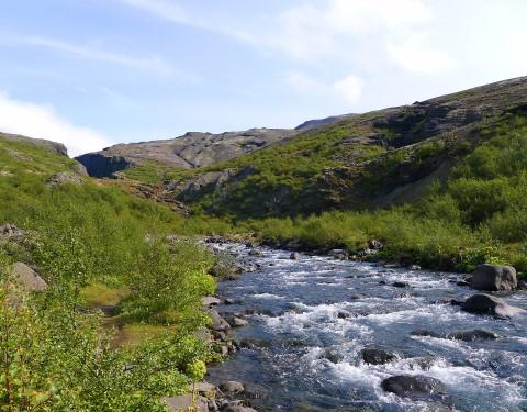 Flussüberquerung zum Glymur